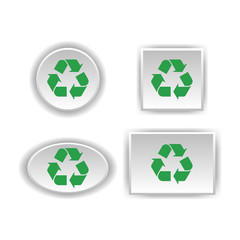 Recycle sign on Labels