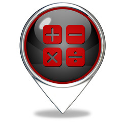 Calculate pointer icon on white background