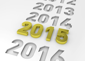 NEW YEAR 2015 - 3D
