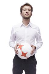 Junger Mann, Fußball, Porträt