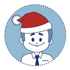 Christmas character smiling Santa Claus