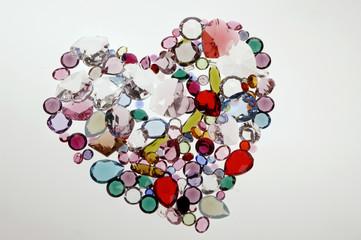 Herz aus Glassteinen