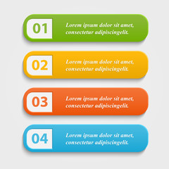 Vector colorful realistic web buttons