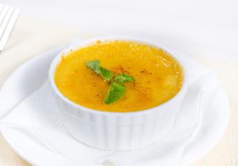 Bowl of autumn butternut soup