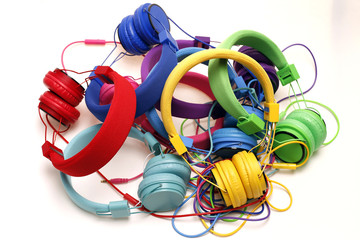 Mixed Colors Headphones