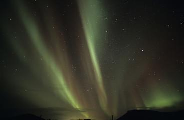Island, Reykjanes, Nordlicht