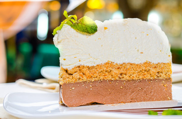 Gourmet Slice of Three Layer Delicious Cake