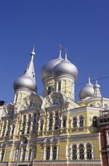 Odessa, Zwiebeltürme Pantelejmonos Kirche, Ukraine