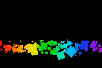 colored squares on a black background