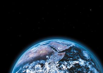 Globus, die Erde aus dem Weltall gesehen