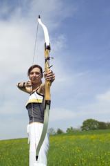 Weiblicher Bogenschütze, Bogenschützin
