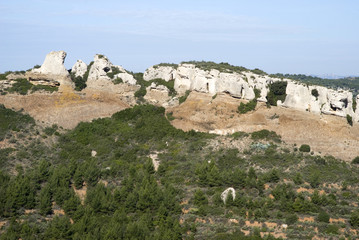 The limestone cliffs of the Calanques national park in