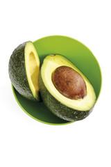 Avocado in der Schüssel, Querschnitt