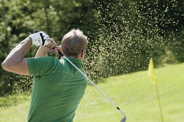 Golfspieler, Rückansicht