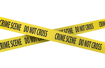 Isolated Crime Scene Tape