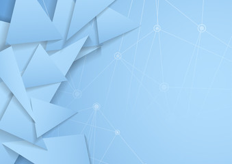 Abstract triangle background net connection