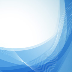 Wavy abstract blue background with border