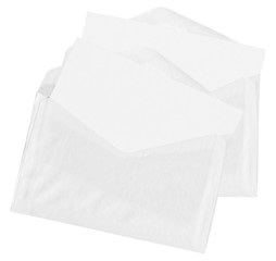 Two envelopes isolated