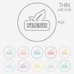 Fresh product sign icon. Leaf symbol.