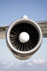 Flugzeugturbine, close-up