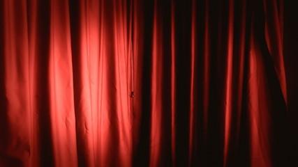 Background establishing shot curtain red right
