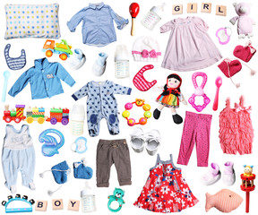 clothes and accessories for baby boy and girl