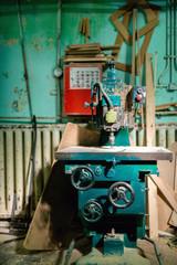 industrial metal drilling tool in factory