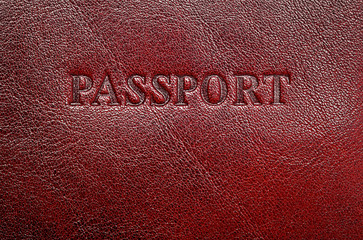 Dark leather cover for your passport, can use as background