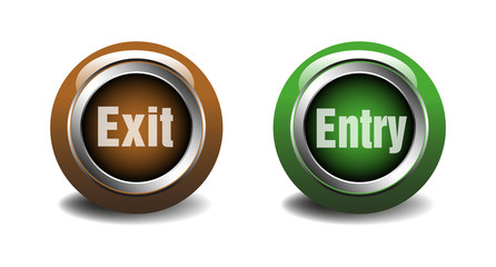 Exit and entry buttons