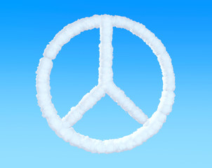 Peace Sign from clouds