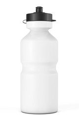 White Sport Plastic Water Bottle