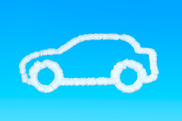 Car from clouds