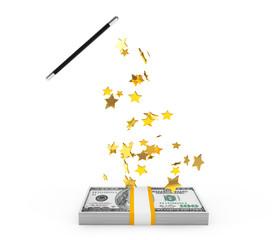 Magic Wand with money