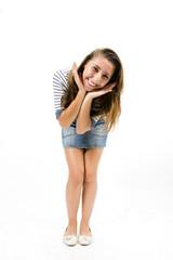 Beautiful girl with sportswear posing expression