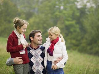 Deutschland, Vater und Töchter, Portrait