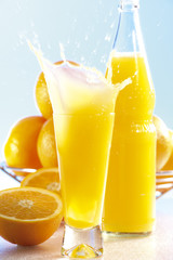 Orangenlimonade mit Spritz