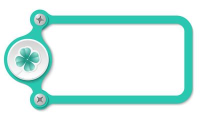 vector frame with screws and cloverleaf