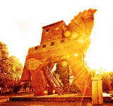 Trojan Horse at Sunset