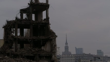 Old collapsing house.