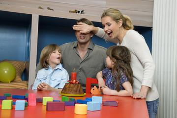 Familien-Geburtstagsfeier, Portrait