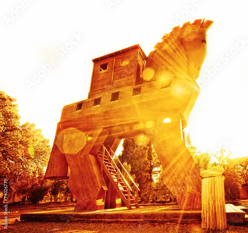 Poster Turkey Trojan Horse at Sunset