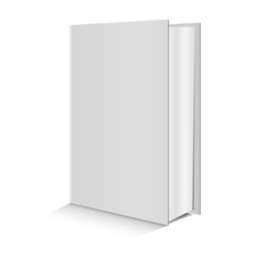 Blank book on white background. Vector.