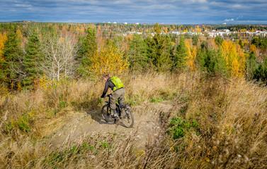 Autumn park downhill