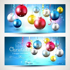 Christmas colorful banners