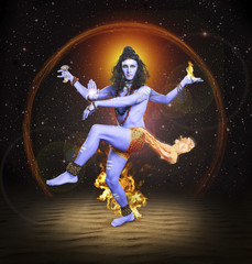 Shiva Nataraja, hindu god, Lord Siva in dancing pose. The creato