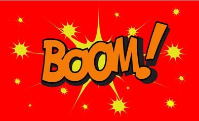 BOOM Comic book explosion sound effect, Comic Speech Bubble