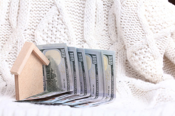 the concept of housing purchase mortgage dollars cash money