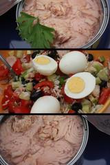 Salade de Riz au Thon et aux Oeufs