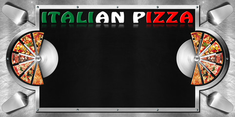 Italian Pizza - Menu Design