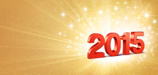 2015 shiny greeting card